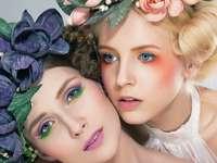 kobiety, makijaż