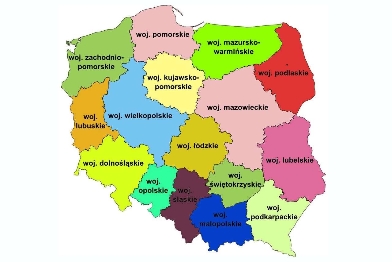 polska województwa