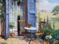 Gemälde Terrasse im Süden