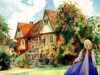 Måla min engelska lantgård