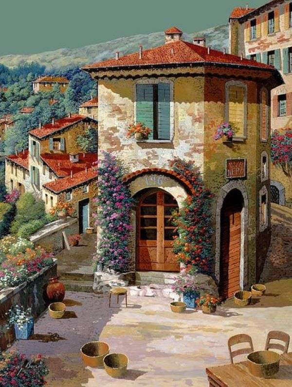 Gemälde Dorf im Süden