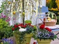 Húsvéti húsvéti dekoráció a házon