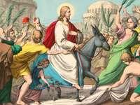 Entrée du dimanche des Rameaux à Jérusalem