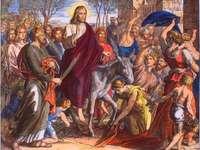 Wjazd w Niedzielę Palmową do Jerozolimy puzzle