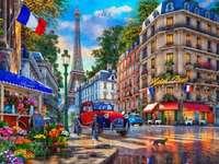 Dans les rues de Paris.