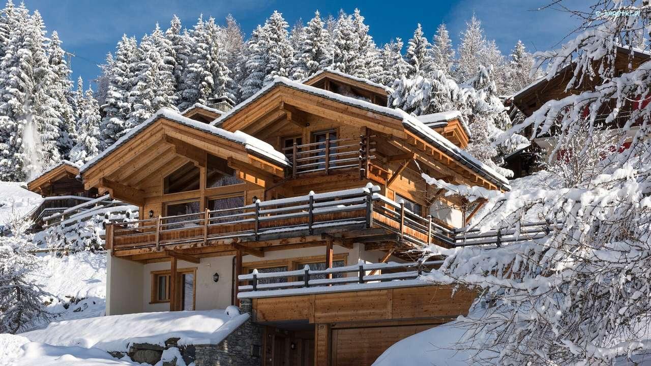 Inverno nas montanhas quebra-cabeça