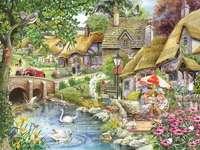 A former English village. jigsaw puzzle