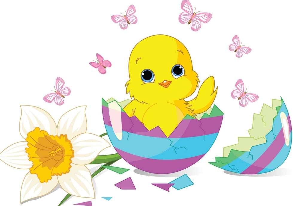 Wielkanocny kurczaczek puzzle online