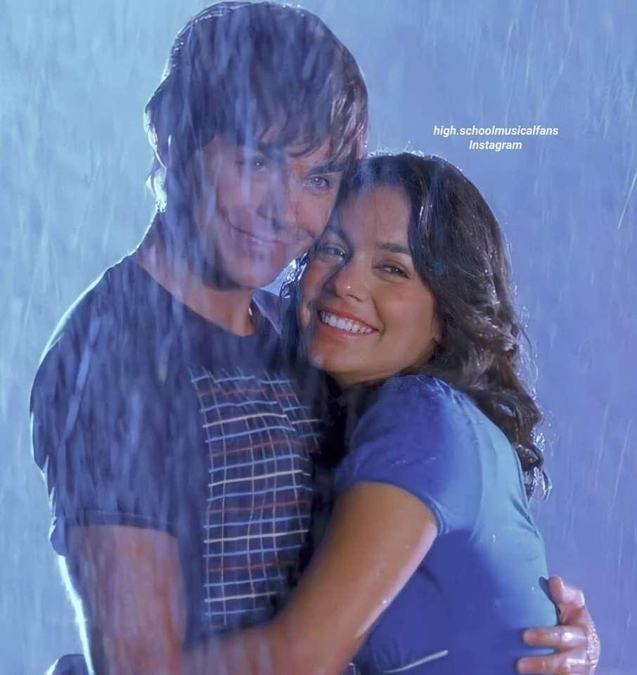 Troy Bolton och Gabriella Montez online pussel