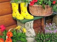 Decorative floral arrangements at the house
