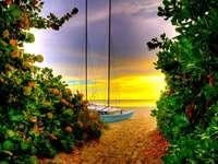 apus de soare lângă mare