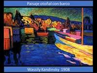 Őszi táj hajóval, Wassily Kandinsky
