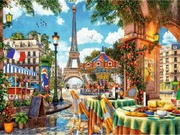 Reggel Párizsban.