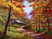 Къща в гората - есен