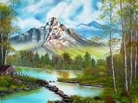 Планини, река