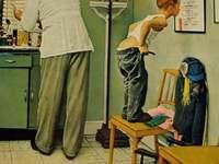 """""""Doctor"""" od společnosti Norman Rockwell (1894-1978)"""