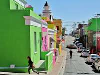 Colorful Bo-Kaap district in Cape Town