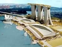 Baia di Marina a Singapore con hotel