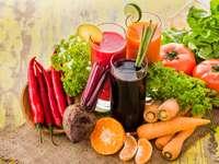 Suco de vegetais e frutas
