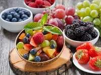 Café da manhã de frutas.