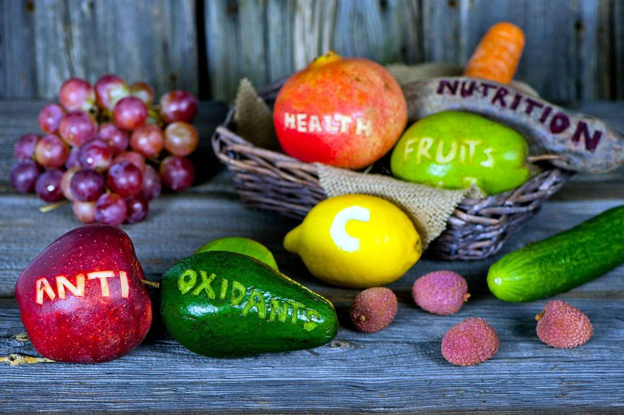 Obst mit Untertiteln.