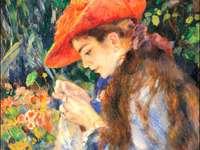 Tafel van Auguste Renoir