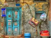 Dörr med mandala