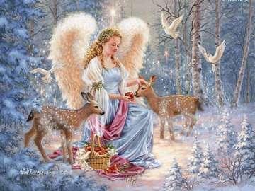 Reproductie afbeelding - engel met sarnami