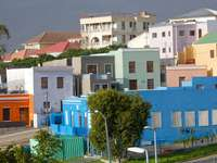 Colorful houses in Cape Town
