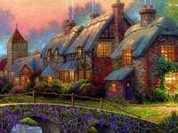 Къщи, мост