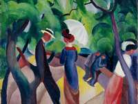 """Promenade"" (1913) de agosto Macke"