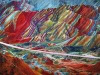 Regenbogengebirge in China
