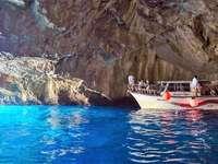 Blue grotto in Montenegro