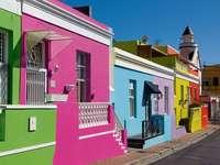 Casas coloridas en Ciudad del Cabo