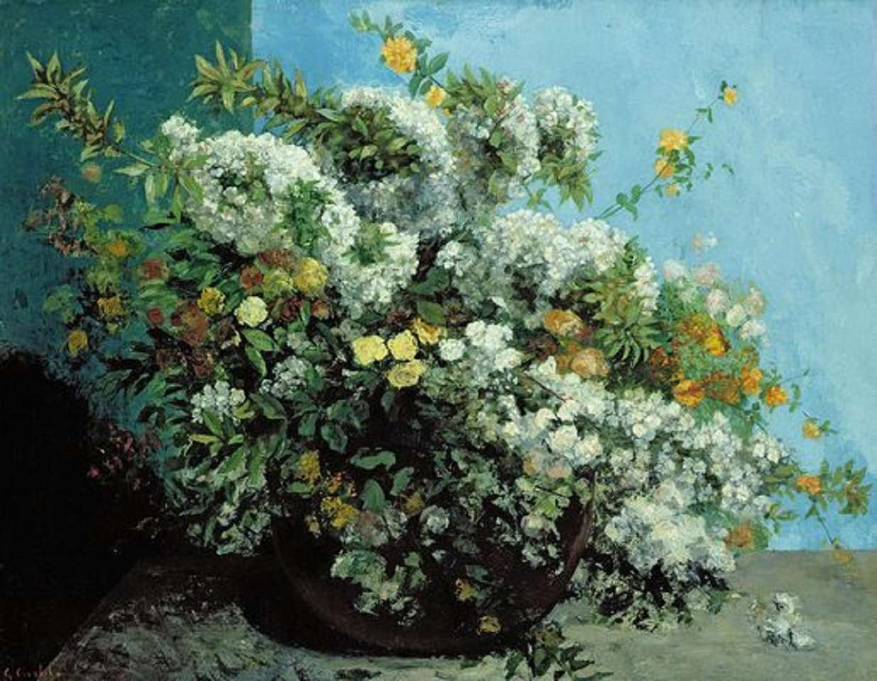 """""""Bouquet of flowers"""" from Gustave Courbet (1819-1877)"""