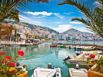Saranda City i Albanien