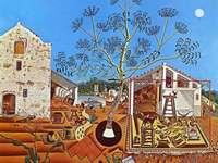"""""""Το αγρόκτημα"""" (1922) του Joan Miro"""