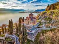Ohrid templom az ohridsee-en Nordmasedonia-ban