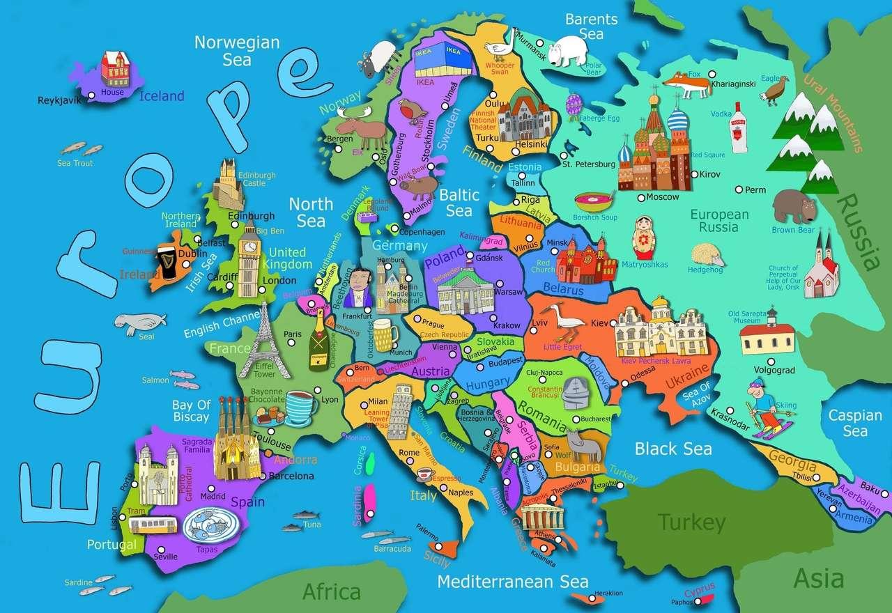 Παζλ του πολιτικού χάρτη της Ευρώπης