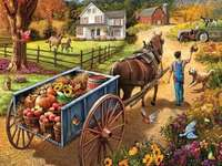 Fruit delivery in the village puzzle