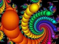 Grafik-Regenbogen-abstrakte Kugeln