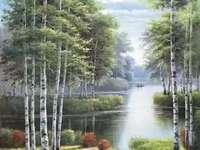 Leśny landscape