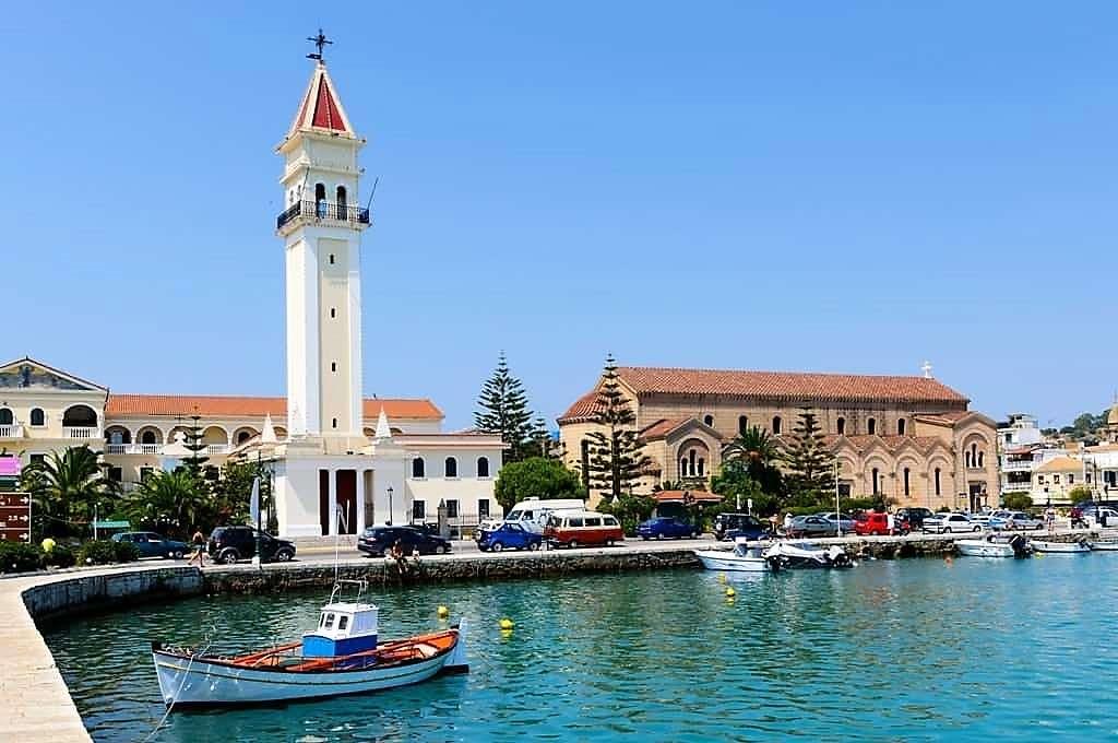City of Zakynthos Joniska ön