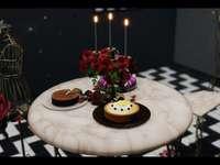 Belle table romantique