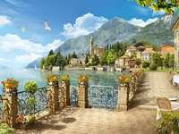 Sjö i norra Italien