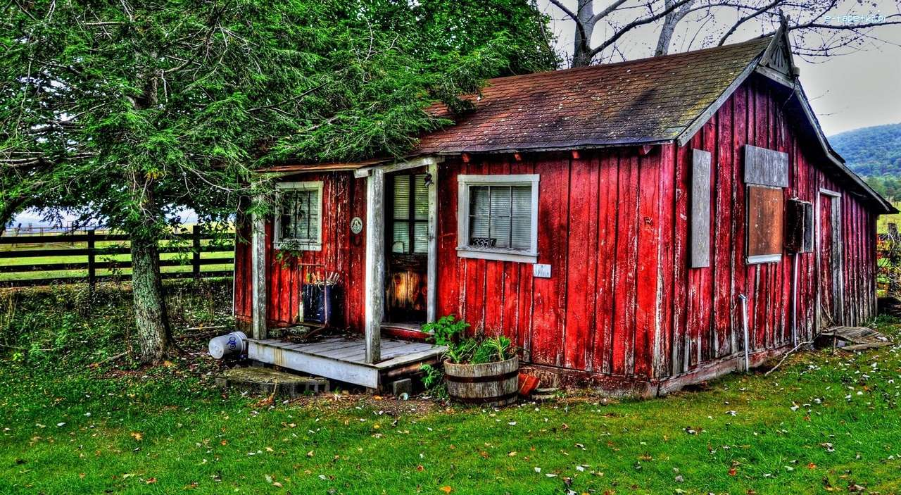 Old red house