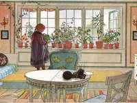 """""""Das blumige Fenster"""" Carl Larsson"""