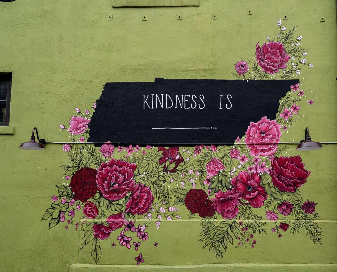 Černé a růžové květinové všechno nejlepší k narozeninám signage online puzzle