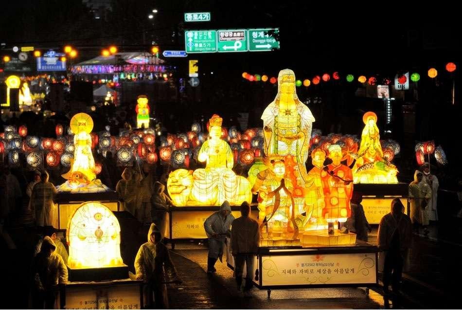 Buddha nap Dél-Koreában kirakós