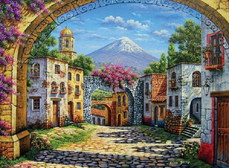Vue du volcan. puzzle